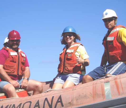 TAS Nancy Lewis (center) on the RHIB