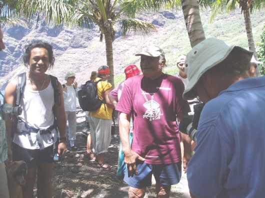 On the trek to the village of Hakaui