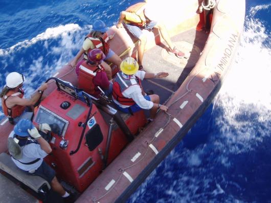 Rough seas for Nancy's first RHIB ride