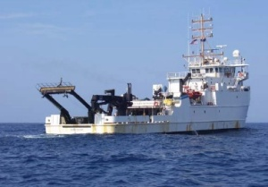 NOAA Ship NANCY FOSTER as seen from the divers' support boat