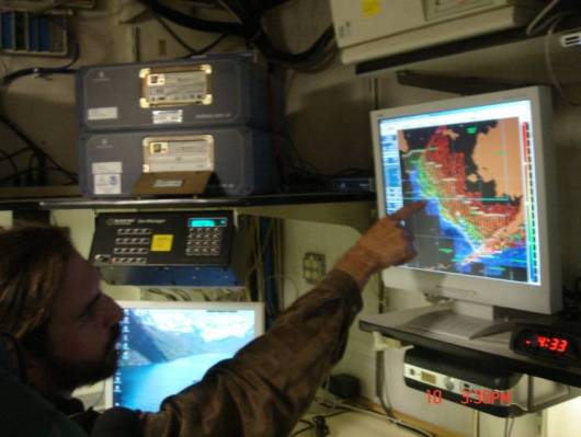 Chief Scientist Patrick Ressler explains how he uses acoustic equipment to study pollock in the Bering Sea.