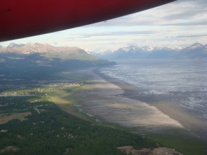 Leaving Anchorage (at 9:30 p.m.) on my way to Kodiak finally!