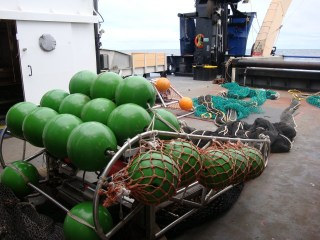 The MOCC apparatus, with the 3 nets extending off.