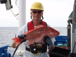 Here I am holding a Red Snapper