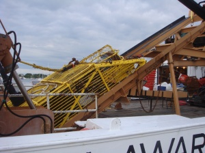 Sampling dredge on the Delaware II
