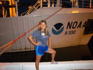 Boarding NOAA Ship Oregon II