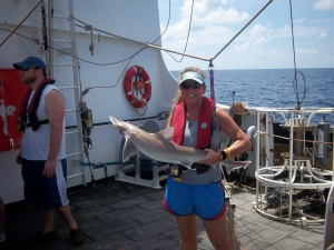 Me with a dogfish shark