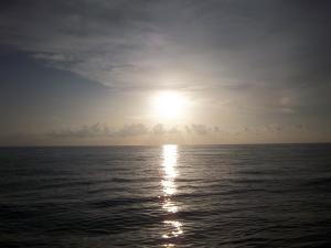 Sunset in the Gulf of Mexico aboard NOAA Ship Oregon II