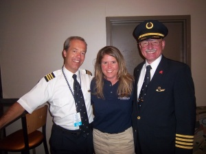 Me with John and Vince, pilots