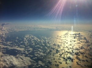 Atlantic Ocean from the air (Courtesy of Vince, pilot)