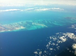Bahamas from the air (Courtesy of Vince, Pilot)