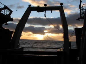 Sunset on the Berring Sea 08-24-11