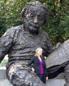 Posing with the Albert Einstein statue on my first day as an Einstein Fellow in Washington DC.