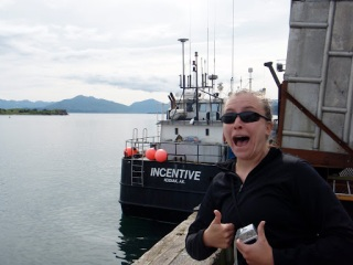 Staci wins the scavenger hunt for ships from The Deadliest Catch (including the Cornelia Marie!).