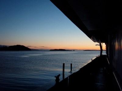 Dawn in Kalsin Bay, Kodiak.