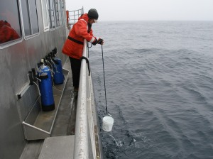 obtaining water for nutrient samples