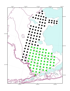 The station grid for all of the proposed sampling sites.