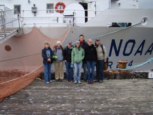 I am now a member of the female dominated science team onboard the Oscar Dyson.