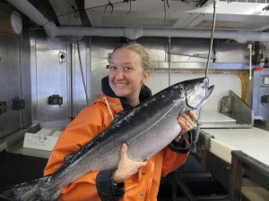 The catch of the day was a 8.5 kg Chinook salmon.