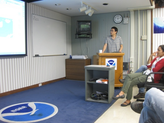 Map discussion at AOML
