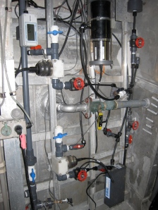 Pump and valve system used for water sampling