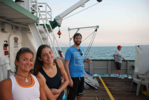 Chelsea, Lorin, Josh (a University of Miami student of Marine Policy), and Matt (the ship's chef)