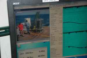 CTD Monitor inside the ship