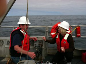 Here I am with Rick Fletcher as we get ready to start surveying