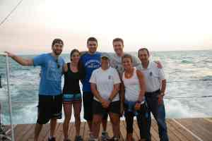 The crew near Key West