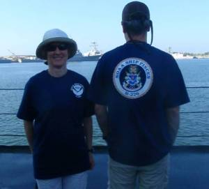 r at Sea Margaret Stephens and Scientist David Hoke in Pisces attire.