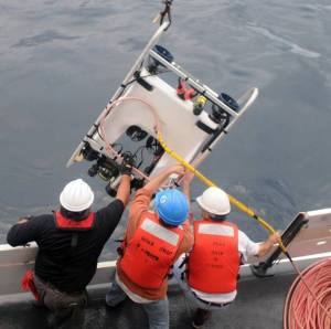 Recovering ROV aboard Pisces Photo source: http://www.moc.noaa.gov/pc/visitor/photos‐a.html