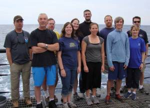 Science team. Photo credit: NOAA Officer Michael Doig