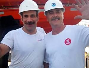 Engineers Abe Goldberg and Bob Carroll