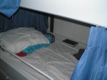 There are six bunks in the bunkhouse on the Sette