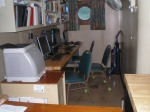 The computer room onboard the Sette