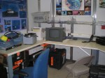 The electronics lab aboard the Sette has multiple hook-ups for computers and e-equipment.
