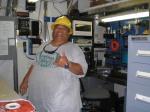 The electronics workroom