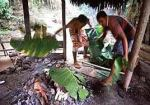 Much of Samoan cooking is done outside in an oven called an umu.
