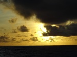 A beautiful sunset over American Samoan waters.
