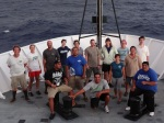 Pictured here is the entire science party aboard the NOAA ship Oscar Elton Sette.