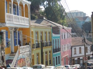 Valparaiso colorful street