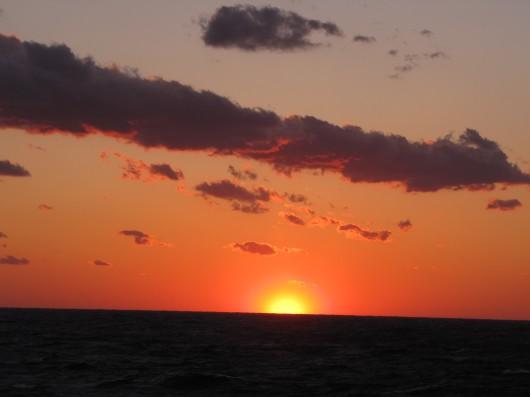 """Red sky at morning...sailor take warning!"""
