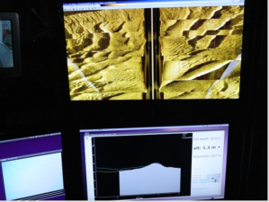 side scan sonar/sand waves