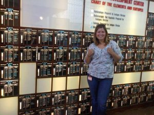 That's me and one of my loves: the periodic table!