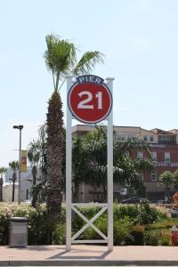 The pier in Galveston