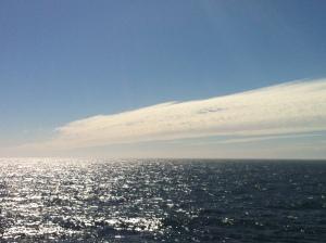 Rare sunny day in the Bering Sea