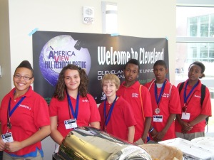Roswell Kent Middle School students at the AmericaView Fall Technical meeting