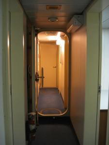 Hallway to shower