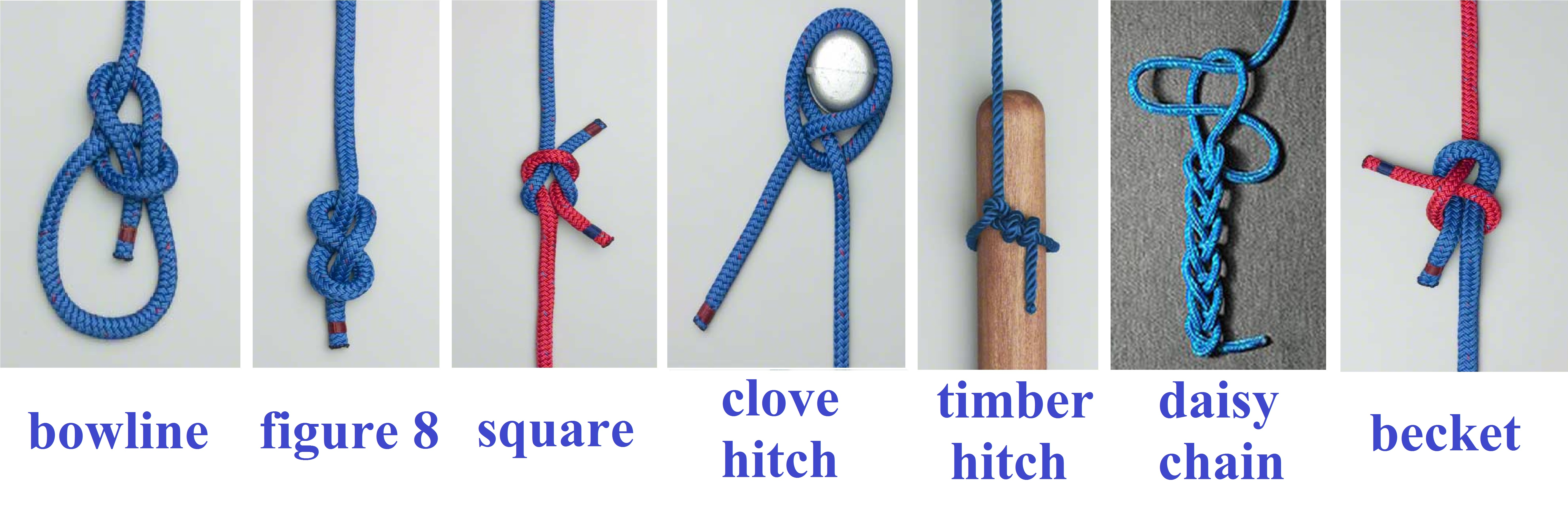 Some Of The Knots I Learned To Tie On Board