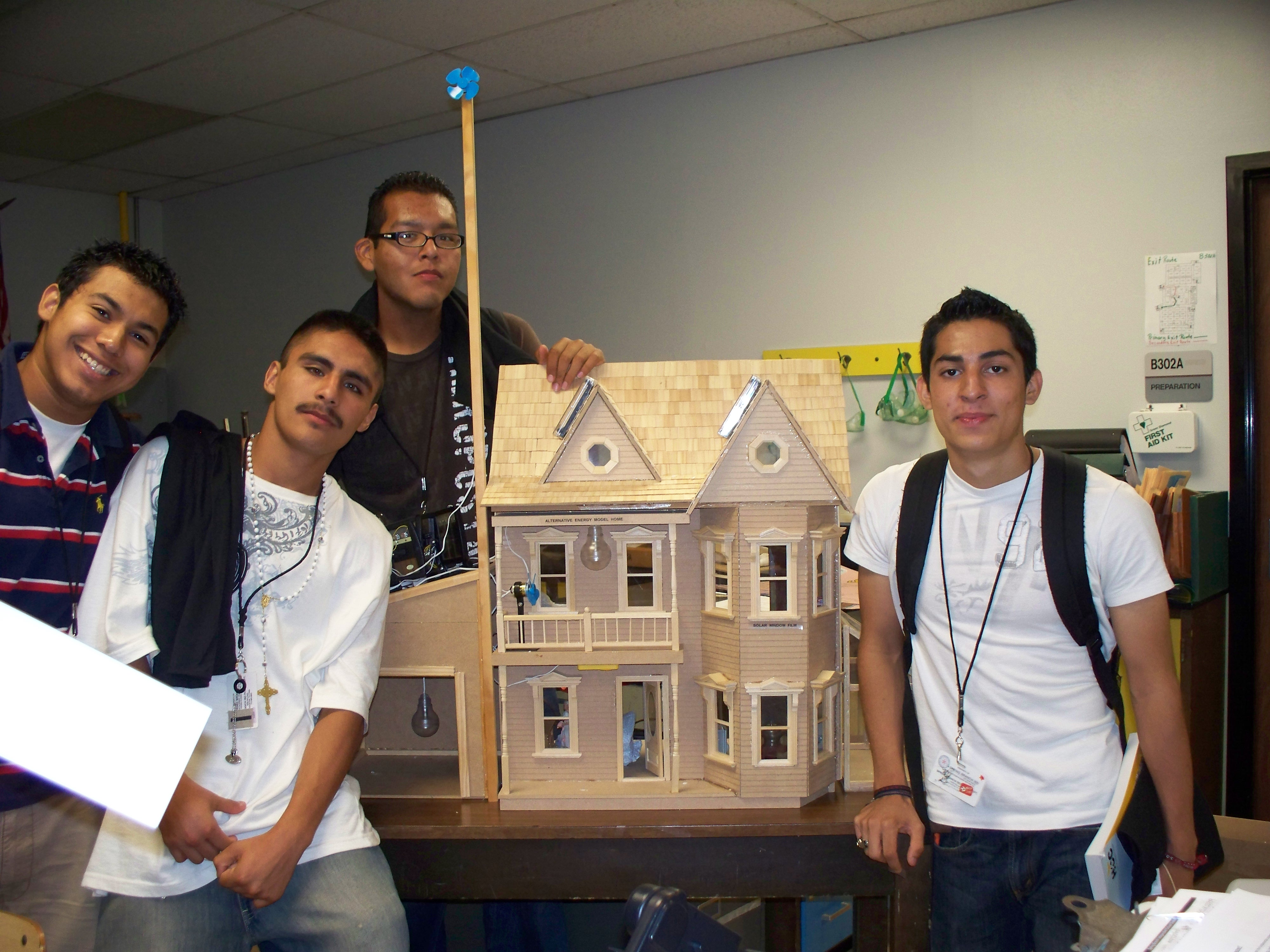Physics electricity house project